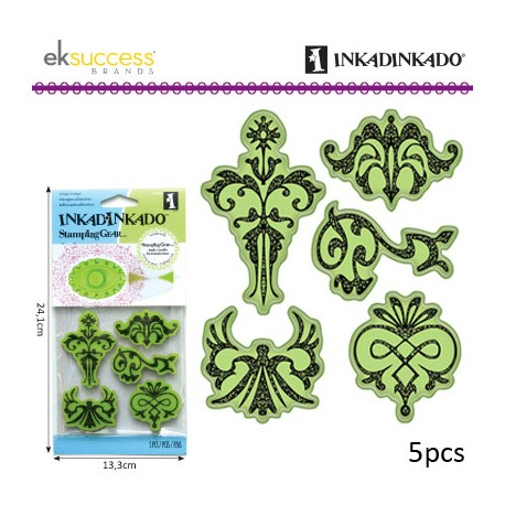 INKADINKADO CLING STAMPS ORNAMENT DESIGNS