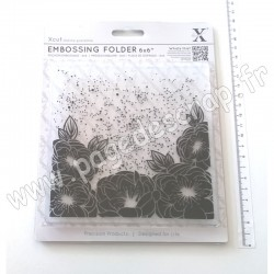 DOCRAFTS EMBOSSING FOLDER FULL BLOOM ROSES 15 cm x 15 cm