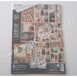 CIAO BELLA JAZZ CLUB 9 imprimés R/V A4 190g