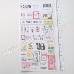 LES ATELIERS DE KARINE STICKERS ÉTIQUETTES LONG COURRIER