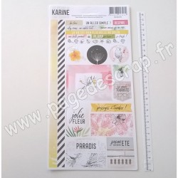 LES ATELIERS DE KARINE LONG COURRIER STICKERS
