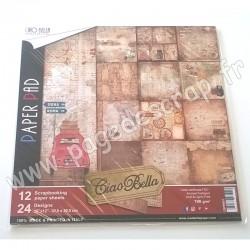 CIAO BELLA 12 imprimés R/V 30.5 cm x 30.5 cm 190g