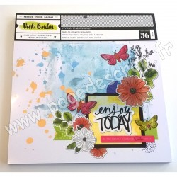 AMERICAN CRAFTS VICKI BOUTIN PAPER PAD MEDIA 30.5 cm x 30.5 cm x36 feuilles 250g