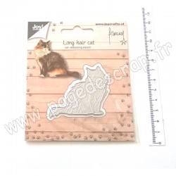 JOY!CRAFTS DIE CUTTIING AND EMBOSSING LONG HAIR CAT