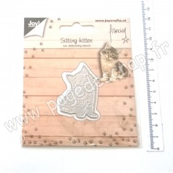JOY!CRAFTS DIE CUTTIING AND EMBOSSING SITTING KITTEN