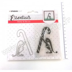 STUDIO LIGHT STAMP & DIE CUT ESSENTIALS CHRISTMAS N 33
