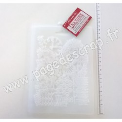 STAMPERIA SOFT MOULD A5 BUTTERFLY AND MANUSCRIPTS ( moule pour modelage )