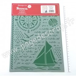 STAMPERIA POCHOIR STENCIL A4 SEA LAND