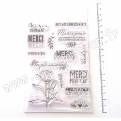BÉATRICE GARNI ILLUSTRATION TAMPONS CLEAR  LES INTEMPORELS - MERCI