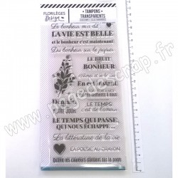 FLORILEGES DESIGN TAMPON CLEAR YELLOW LA POÉSIE AU CRAYON