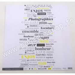 FLORILEGES DESIGN COLLECTION YELLOW N°2   30.5 cm x 30.5 cm