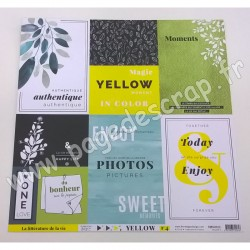 FLORILEGES DESIGN COLLECTION YELLOW N°4   30.5 cm x 30.5 cm