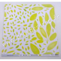 FLORILEGES DESIGN COLLECTION YELLOW N°7   30.5 cm x 30.5 cm