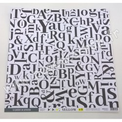 FLORILEGES DESIGN COLLECTION YELLOW N°8   30.5 cm x 30.5 cm