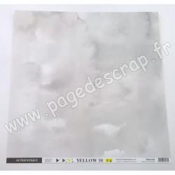 FLORILEGES DESIGN COLLECTION YELLOW PAPIER UNI GRIS DOUX  30.5 cm x 30.5 cm