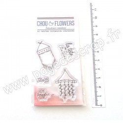 CHOU & FLOWERS COLLECTION CONCEPT HOME TAMPONS CLEAR DÉCORATION