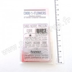 CHOU & FLOWERS COLLECTION CONCEPT HOME TAMPONS CLEAR DANS NOTRE MAISON