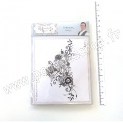 CREATIVE EXPRESSIONS SENTIMENTALLY YOURS BOHEMIAN RUBBER STAMP CORNER A6