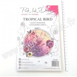 CREATIVE EXPRESSIONS PINK INK CLEAR STAMP TROPICAL BIRD