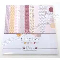 MARIE LN GEFFRAY COLLECTION ÂMES SOEURS 10 papiers recto 30.5 cm x 30.5 cm