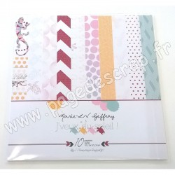 MARIE LN GEFFRAY COLLECTION J'VEUX DU SOLEIL ! 10 papiers recto 30.5cm x 30.5cm