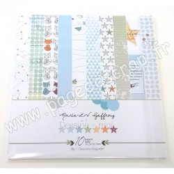 MARIE LN GEFFRAY COLLECTION DESSINE MOI 10 papiers recto 30.5 cm x 30.5 cm