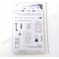 MARIE LN GEFFRAY TAMPONS TRANSPARENTS COLLECTION PORTE BONHEUR CLEFS ET PORTES