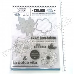 FLORILEGES DESIGN COMBO CLEAR DIES YELLOW