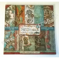 STAMPERIA SEA WORLD 10 feuilles R/V 30.5 cm x 30.5 cm 190 gr