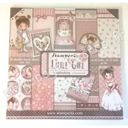 STAMPERIA LITTLE GIRL 10 feuilles R/V 30.5 cm x 30.5 cm 190 gr