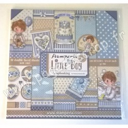 STAMPERIA LITTLE BOY 10 feuilles R/V 30.5 cm x 30.5 cm 190 gr
