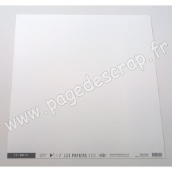 FLORILEGES DESIGN COLLECTION SAKURA PAPIER UNI BLANC PUR 30.5 cm x 30.5 cm