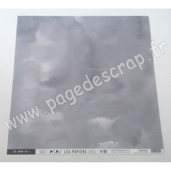 FLORILEGES DESIGN COLLECTION SAKURA PAPIER UNI GRIS ORAGE 30.5 cm x 30.5 cm