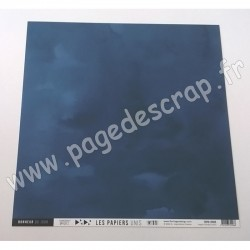 FLORILEGES DESIGN COLLECTION SAKURA PAPIER UNI BLEU NUIT 30.5 cm x 30.5 cm