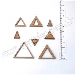 PDS SUJET BOIS KIT TRIANGLE 1  COLLECTION FORME