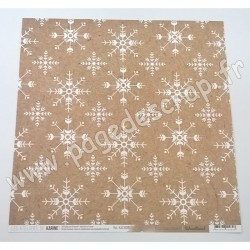 LES ATELIERS DE KARINE COLLECTION WOODLAND FLOCONS KRAFT 30.5 cm x 30.5 cm