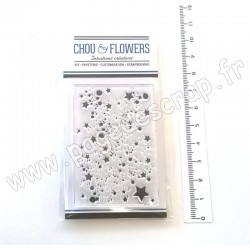 "CHOU & FLOWERS COLLECTION ALOHA TAMPON CLEAR ""FOND ÉTOILES"""