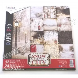 CIAO BELLA SNOW AND THE CITY 12 imprimés R/V 30.5 cm x 30.5 cm 190g