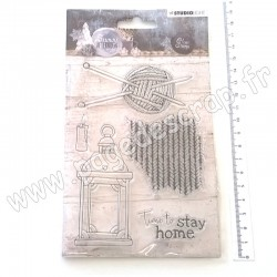 STUDIO LIGHT CLEAR STAMP SNOWY AFTERNOON N°398