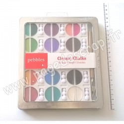 PEBBLES CHALK BASIC BRIGHTS 30 COULEURS