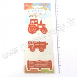 JOY!CRAFTS CUTTING & EMBOSSING DIES AT THE FARM TRACTOR
