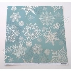 KAISERCRAFT LET IT SNOW COLLECTION FALLING SNOWFLAKES 30.5 cm x 30.5 cm