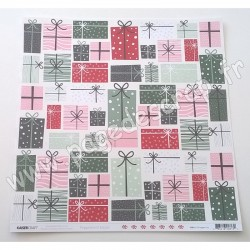 KAISERCRAFT PEPPERMINT KISSES COLLECTION WRAPPED UP 30.5 cm x 30.5 cm
