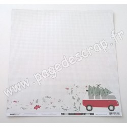 KAISERCRAFT PEPPERMINT KISSES COLLECTION COMBI CHRISTMAS 30.5 cm x 30.5 cm