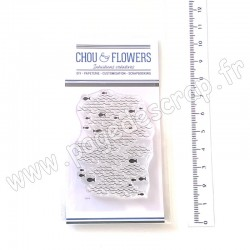 "CHOU & FLOWERS COLLECTION CARTE POSTALE TAMPON CLEAR ""FOND MER"""