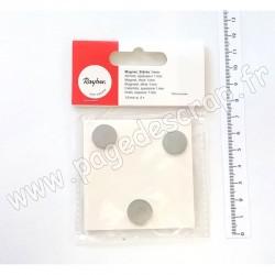 RAYHER AIMANT diamètre 15 mm, épaisseur 1 mm, 6 pièces