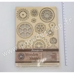 STAMPERIA WOODEN FRAMES A5 - GEARS