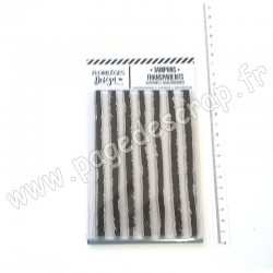 FLORILEGES DESIGN TAMPON CLEAR RAYURES GRUNGE