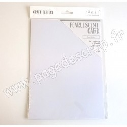TONIC STUDIOS CRAFT PERFECT PEARLESCENT CARD A4 x5 250g PEARL WHITE