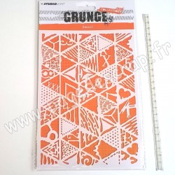 STUDIO LIGHT MASK STENCIL A5 GRUNGE COLLECTION 2.0 NR°14